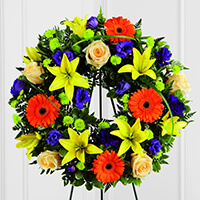 The FTD Radiant Remembrance Wreath
