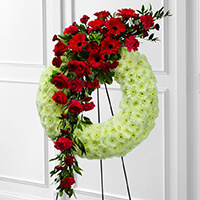 The FTD Graceful Tribute Wreath